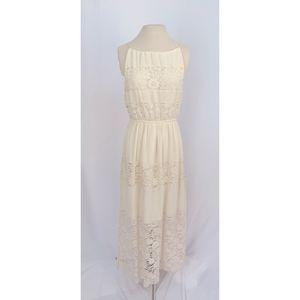Altar'd State Cream Lace Maxi Dress